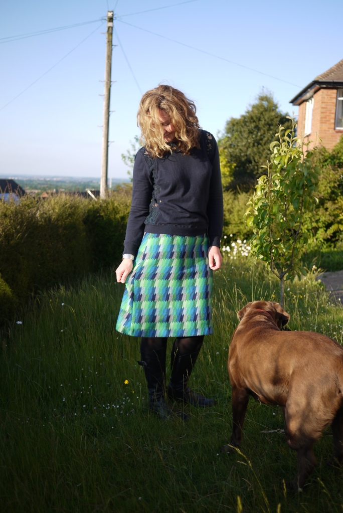 My dog decided to get in on the pictures at this point. She has a lovely coat, after all.