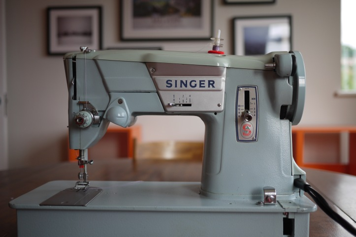 Here's my mother-in-law's Singer 357 - from 1967. It was the first twin needle experience for me and for this machine.