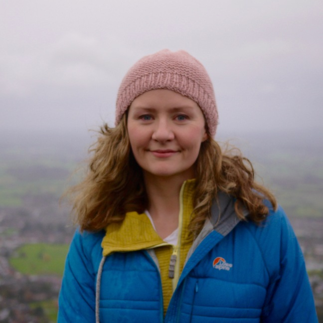 Me on the Malvern Hills, in my first handmade hat
