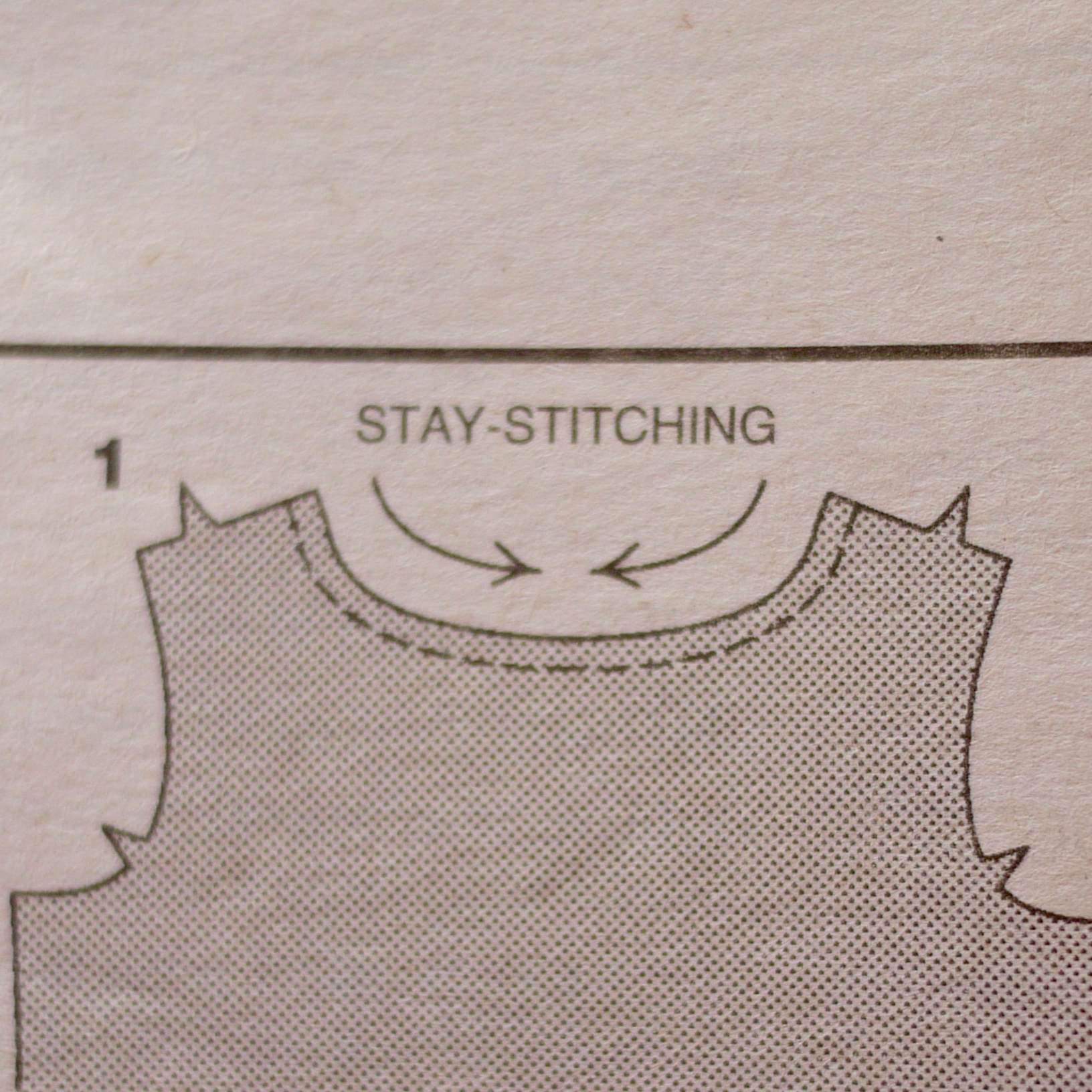 What is stay stitching?