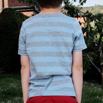This is the back view – I don't share identifiable pictures of my son on the web, because he's not able to decide whether he wants them released into the wild or not.
